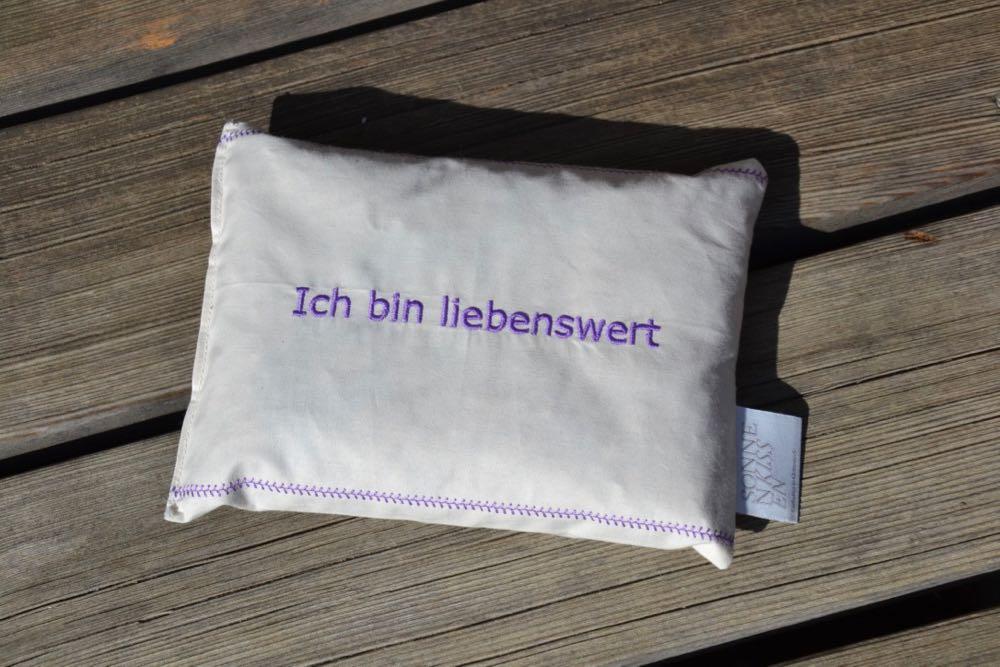 Mentalkissen: Kräuterkissen mit Spruch BIO